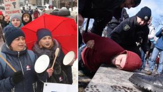 Марша за права жінок у Києві та Львові