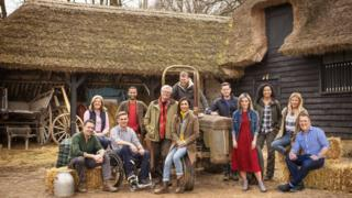 Countryfile presenters L to R: Joe Crowley, Charlotte Smith, Steve Brown, Sean Fletcher, John Craven, Anita Rani, Tom Heap, Matt Baker, Helen Skelton, Margherita Taylor, Ellie Harrison, Adam Henson