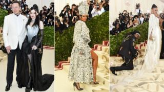 Elon Musk, Grimes, Rihanna, 2 Chainz and Kesha Ward at the Met gala 2018