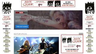 Team Rock website screen grab