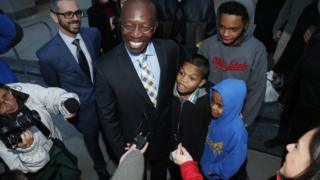 Clarence Moses-EL and his grandchildren