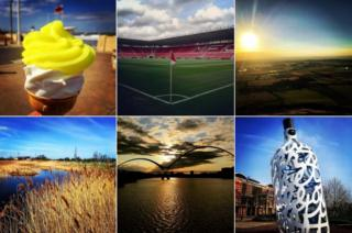 Composite of Teesside images