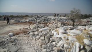 سوریه کې هغه ځای چې البغدادي په کې په نښه شوی
