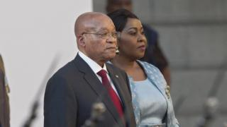 Jacob Zuma at opening of South African parliament