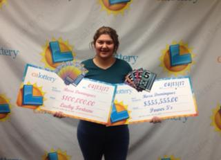 Rosa Dominguez, 19, wins the California Lottery twice in a week.