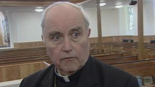 The former Catholic Bishop of Derry, Seamus Hegarty, filmed in 2011