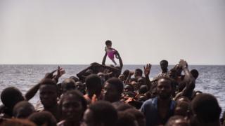 Мігранти в Середземному морі