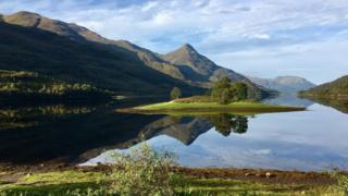 The road to Kinlochleven