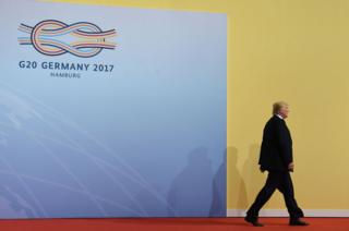 Trump at G20 in 2017