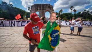 Manifestación a favor de Lula.