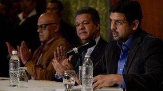 Mesa de diálogo entre el gobierno y la oposición de Venezuela.