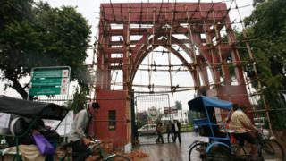 দিল্লিতে জামিয়া মিলিয়া ইসলামিয়ার মূল প্রবেশপথ