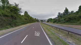 A617 near Chesterfield