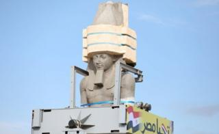 The Statue of King Ramses II is seen on the way to the Grand Egyptian Museum in Cairo, Egypt January 25, 2018.