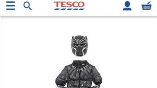 Dark Panther costume for sale on Tesco website