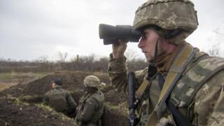 Українські військовослужбовці в зоні АТО в Донецькій області