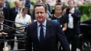 Премьер-министр Дэвид Кэмерон на саммите стран ЕС после референдуме в Великобритани