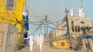 Ilustración de un calle de Hebrón