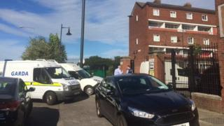 The victim was found injured when police were called to Seagull House flats on Saturday