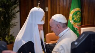 Патриарх Московский и всея Руси Кирилл и Папа Римский Франциск