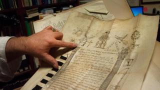 Масонські символи на одному з багатьох історичних документів