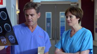 John Michie and Catherine Russell in Holby City
