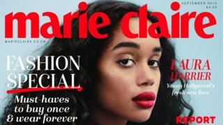 Celebrity Beauty: Marie Claire magazine cover