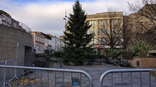 Christmas tree in Market Square