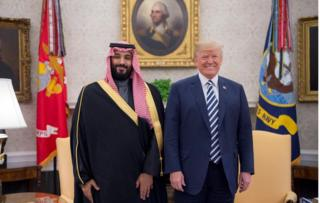 Saudi Crown Prince Mohammed bin Salman and President Trump