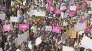 Une manifestation antigouvernementale en Ethiopie