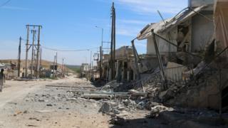 Village of al-Eis in Aleppo province (2 April 2016)
