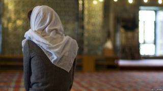 Female Muslim in a mosque