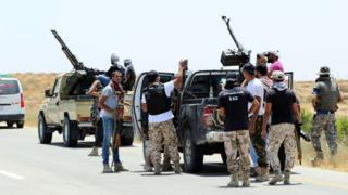 Forces loyal to Libya's unity government outside Sirte