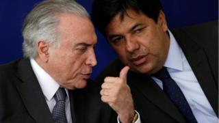 Presidente Michel Temer e o ministro da Educação Mendonça Filho