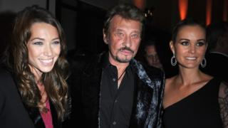 Laura Smet, Johnny Hallyday and wife Laetitia attend party in 2008