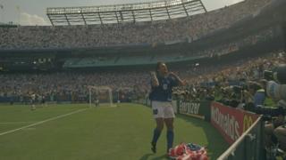 Roberto Baggio, 1994'te ABD'de düzenlenen Dünya Kupası'nda