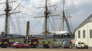 Emergency services at The Historic Dockyard in Chatham