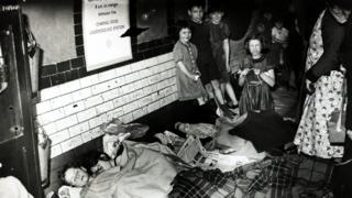 Air raid shelters kept people safe during bombing raids, in London the Underground provided shelter for thousands of people.