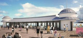 Artist's impression of part of the pier
