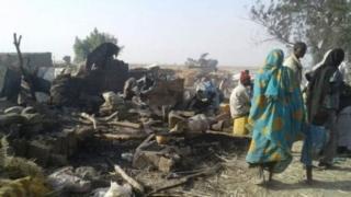 Mutum fiye da 200 ne suka mutu a harin bam din da jiragen sojoji suka kai bisa kuskure a jihar Borno da ke Najeriya