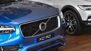 Volvo cars including the XC90 on show