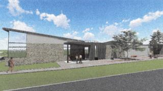 A drawing of the proposed sports centre in Derry