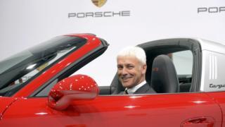 Matthias Mueller in a Porsche