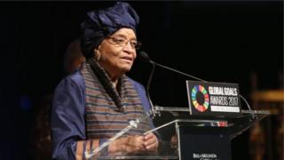 Ellen Johnson Sirleaf waxay madaxweyne ahayd tan iyo 2006