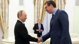 Путин и Вучић у Кремљу, 27. марта 2017 у Москви