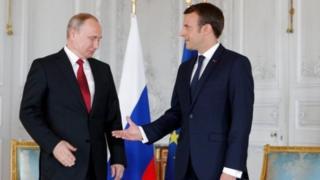 روسای جمهور روسیه و فرانسه