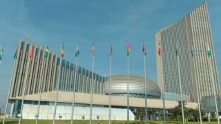 African Union headquarters for Addis Ababa, Ethiopia
