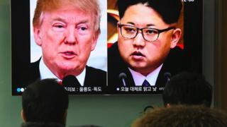 도널드 트럼프 미국 대통령(왼쪽)과 김정은 북한 노동당 위원장
