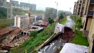 Разрушенная дорога в Китае