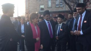 First minister arrives